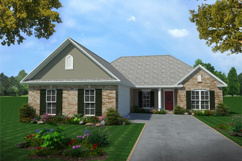 Traditional Exterior - Front Elevation Plan #21-160