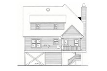 Beach Exterior - Rear Elevation Plan #37-115