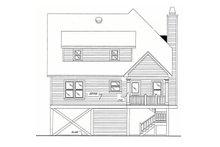 House Design - Beach Exterior - Rear Elevation Plan #37-115