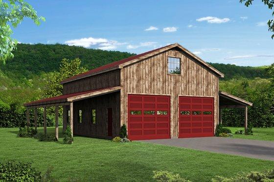 Farmhouse Exterior - Front Elevation Plan #932-31