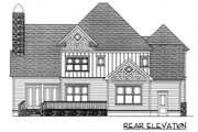 Craftsman Style House Plan - 4 Beds 4 Baths 3475 Sq/Ft Plan #413-107 Exterior - Rear Elevation