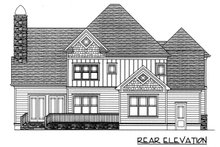 Craftsman Exterior - Rear Elevation Plan #413-107