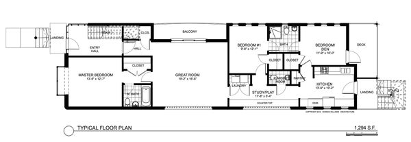 Contemporary Floor Plan - Main Floor Plan Plan #535-19