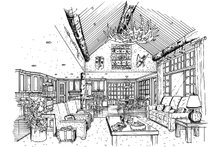 Home Plan - Cabin Interior - Family Room Plan #942-40