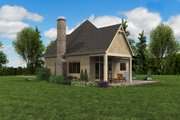 European Style House Plan - 1 Beds 1 Baths 960 Sq/Ft Plan #48-1012 Exterior - Outdoor Living
