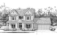 Home Plan - Country Exterior - Front Elevation Plan #120-133