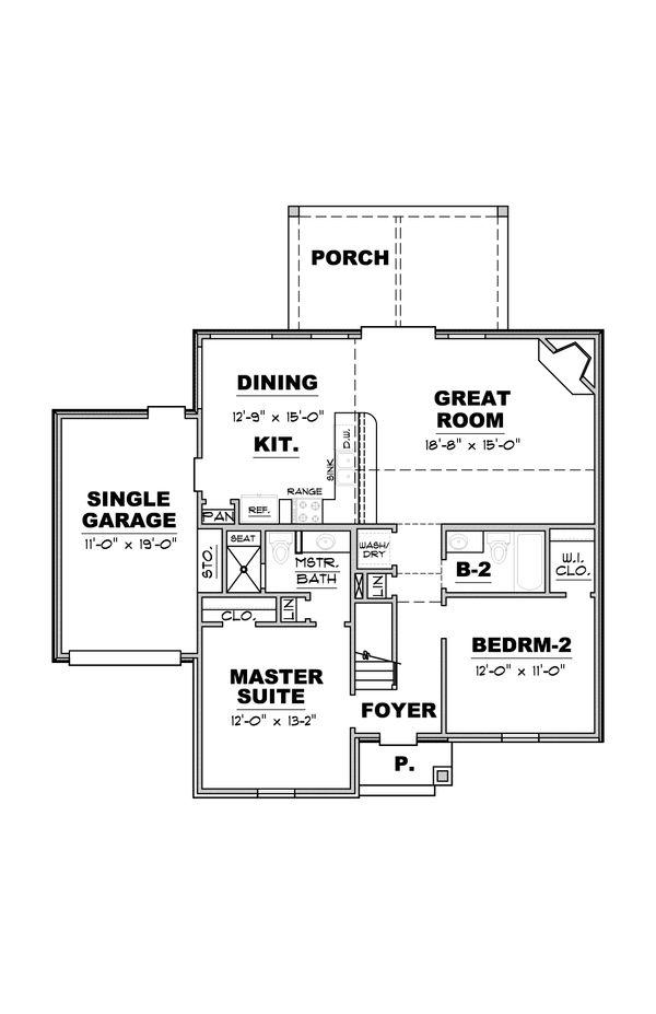 European Floor Plan - Main Floor Plan #34-233