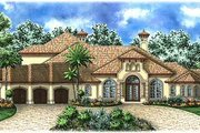 Mediterranean Style House Plan - 5 Beds 5.5 Baths 4403 Sq/Ft Plan #27-203 Exterior - Front Elevation