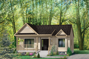 Country Exterior - Front Elevation Plan #25-4645