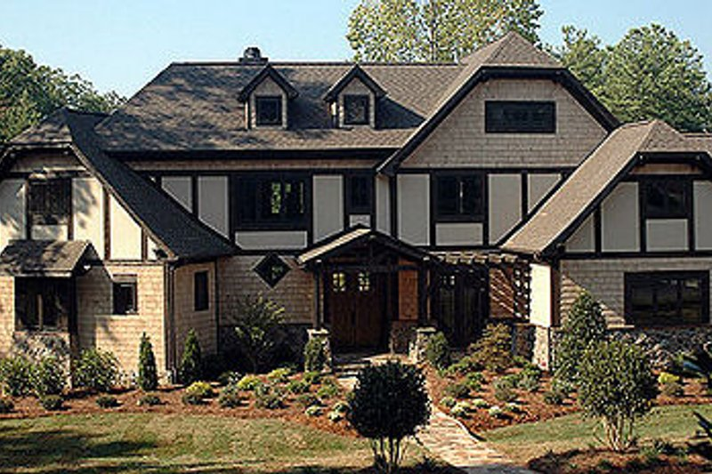 Tudor Style House Plan - 4 Beds 3 Baths 3797 Sq/Ft Plan #413-114 Exterior - Front Elevation
