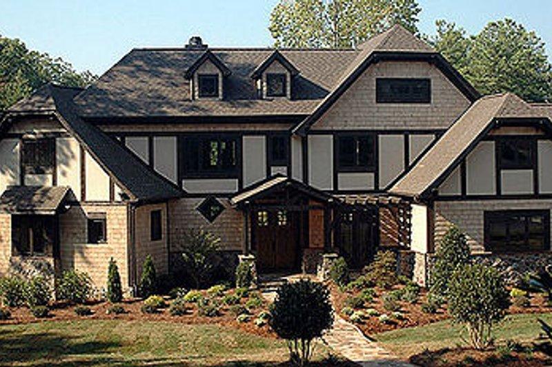 Dream House Plan - Tudor Exterior - Front Elevation Plan #413-114