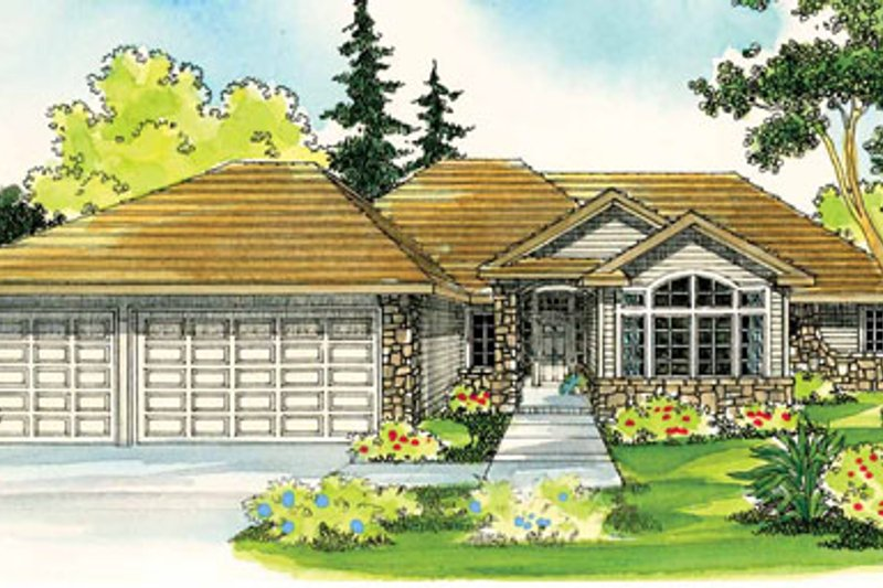 Home Plan - Ranch Exterior - Front Elevation Plan #124-396