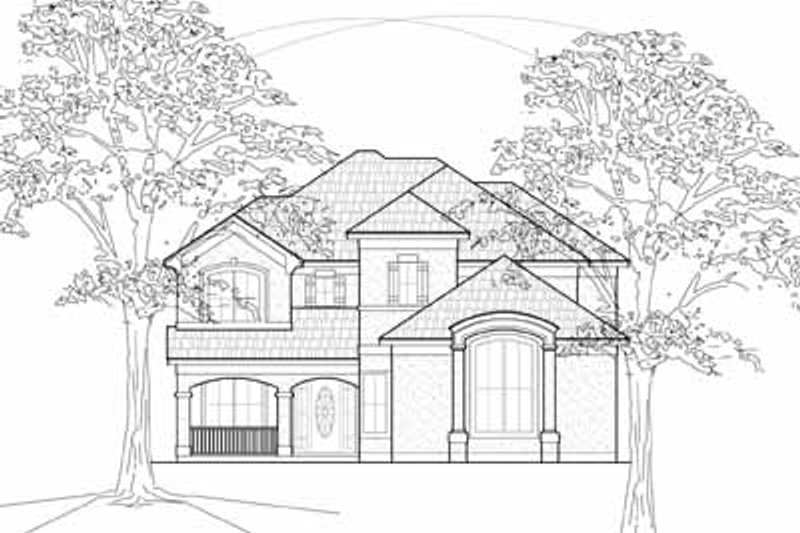 European Exterior - Front Elevation Plan #61-212 - Houseplans.com