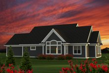 Dream House Plan - Ranch Exterior - Front Elevation Plan #70-1214