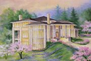 Contemporary Style House Plan - 4 Beds 2.5 Baths 3850 Sq/Ft Plan #509-50 Exterior - Front Elevation