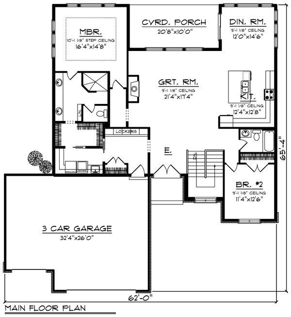 Modern Floor Plan - Main Floor Plan #70-1417