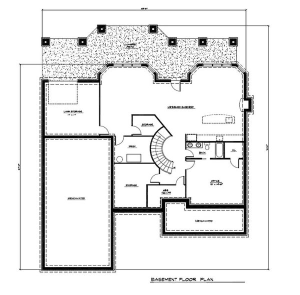 Craftsman Floor Plan - Lower Floor Plan #123-114