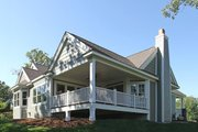Craftsman Style House Plan - 3 Beds 2 Baths 2320 Sq/Ft Plan #132-200 Exterior - Covered Porch