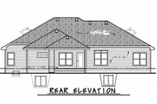 House Design - Traditional Exterior - Rear Elevation Plan #20-2178