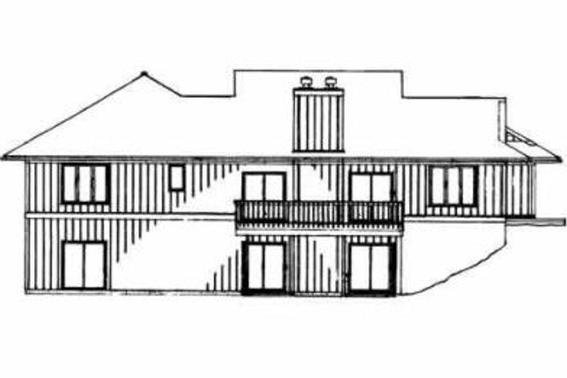Traditional Exterior - Rear Elevation Plan #72-392 - Houseplans.com