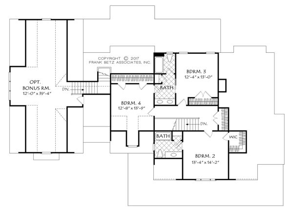 Farmhouse Floor Plan - Upper Floor Plan Plan #927-988