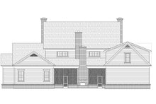 Colonial Exterior - Rear Elevation Plan #932-1