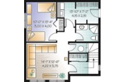 Country Style House Plan - 2 Beds 2.5 Baths 1956 Sq/Ft Plan #23-2419 Floor Plan - Lower Floor Plan
