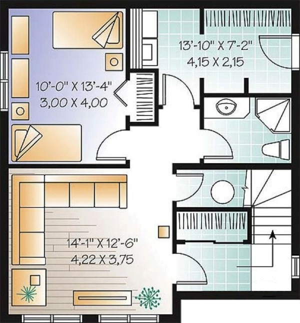 Country Floor Plan - Lower Floor Plan Plan #23-2419