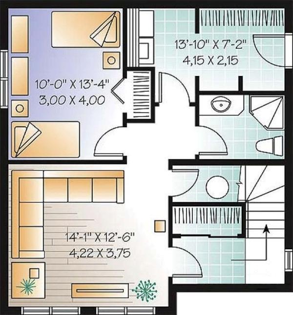 Country Floor Plan - Lower Floor Plan #23-2419