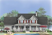 Country Style House Plan - 5 Beds 4.5 Baths 3215 Sq/Ft Plan #929-831 Exterior - Rear Elevation