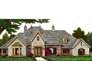 European Style House Plan - 3 Beds 2.5 Baths 2881 Sq/Ft Plan #310-980 Exterior - Front Elevation