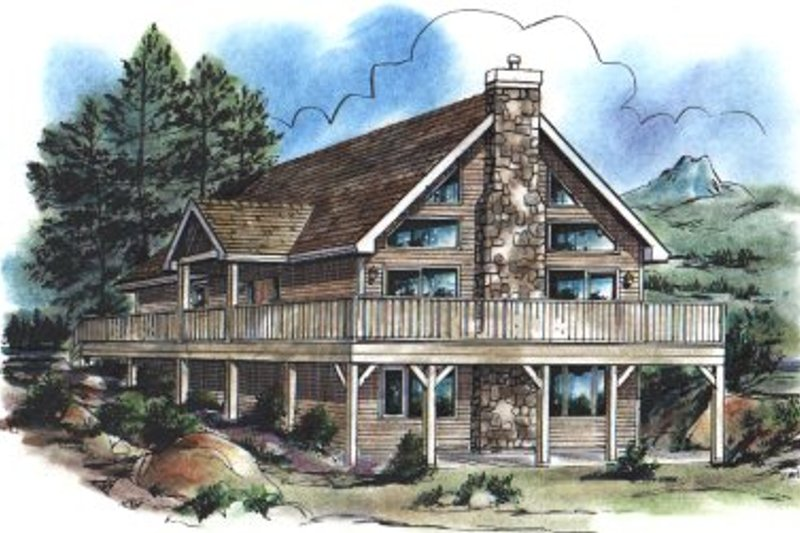 House Blueprint - Modern Exterior - Front Elevation Plan #18-284