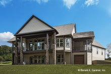 Home Plan - Cottage Exterior - Rear Elevation Plan #929-992