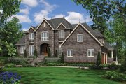 European Style House Plan - 4 Beds 3.5 Baths 4888 Sq/Ft Plan #48-620 Exterior - Front Elevation