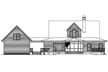 Home Plan - Colonial Exterior - Rear Elevation Plan #929-50