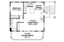 Craftsman Floor Plan - Upper Floor Plan Plan #124-963