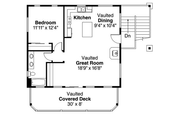 Craftsman Floor Plan - Upper Floor Plan Plan #124-963