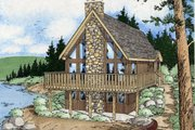 Cottage Style House Plan - 3 Beds 2 Baths 1702 Sq/Ft Plan #126-109 Exterior - Other Elevation