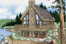 House Plan Design - Cottage Exterior - Other Elevation Plan #126-109