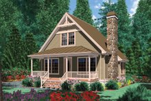 Home Plan - Front View - 950 square foot Craftsman Cottage