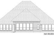 European Style House Plan - 4 Beds 2.5 Baths 2987 Sq/Ft Plan #84-574 Exterior - Rear Elevation