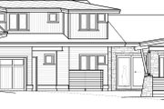 Contemporary Style House Plan - 4 Beds 3.5 Baths 2911 Sq/Ft Plan #895-27 Exterior - Front Elevation