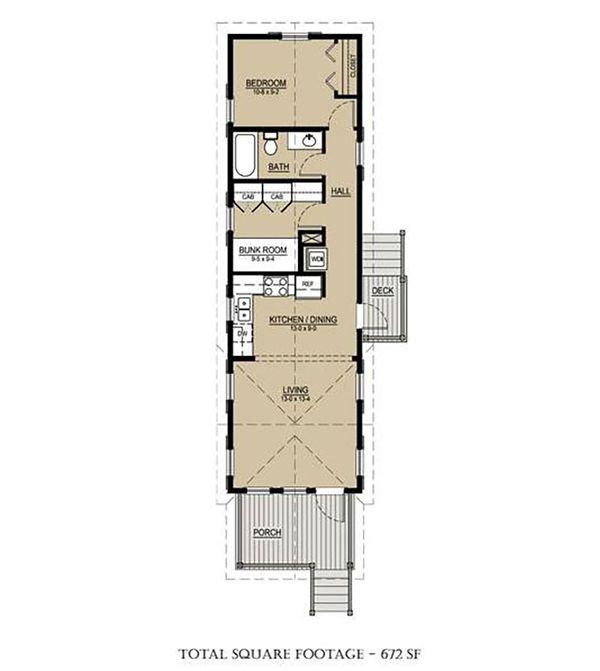 Cottage Floor Plan - Main Floor Plan Plan #536-4