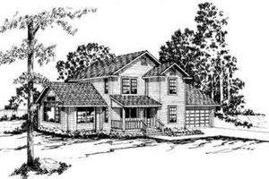 Farmhouse Exterior - Front Elevation Plan #124-161