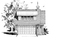 Architectural House Design - Traditional Exterior - Front Elevation Plan #942-53