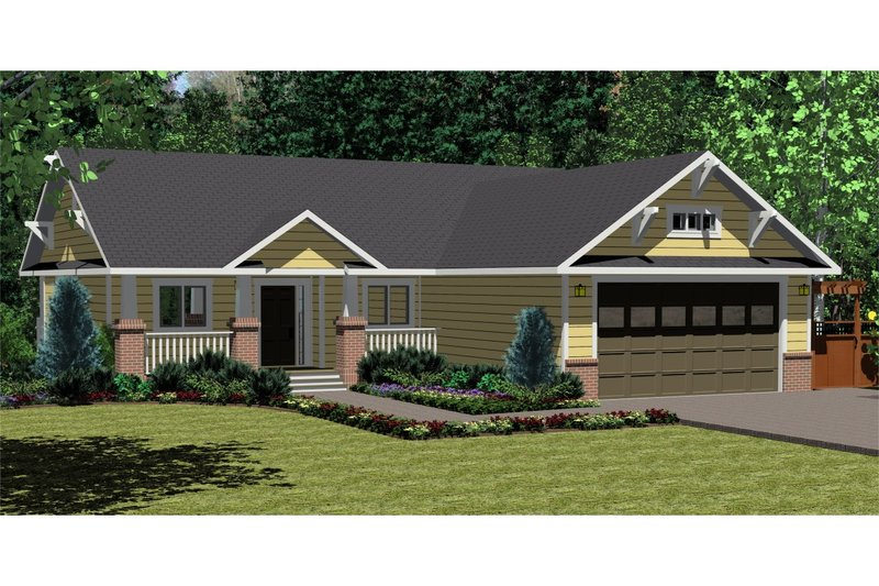 Architectural House Design - Ranch Exterior - Front Elevation Plan #126-139