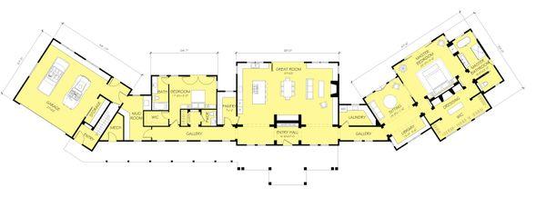 Dream House Plan - Ranch Floor Plan - Main Floor Plan #888-11