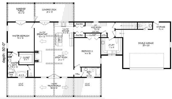 Country Floor Plan - Main Floor Plan Plan #932-77