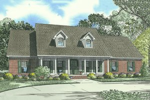 Traditional Exterior - Front Elevation Plan #17-1176