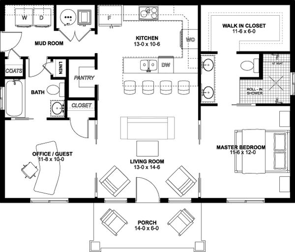 Home Plan - Farmhouse Floor Plan - Main Floor Plan #126-236